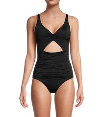 stella mccartney women's cutout one-piece swimsuit - anthracite - size xs