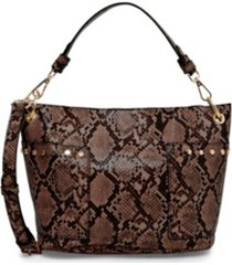 steve madden luxury snake-print bucket bag