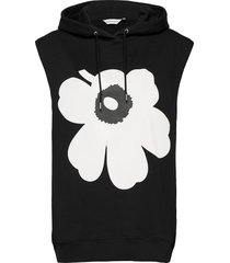toteava unikko sleeveless hoodie hoodie trui zwart marimekko