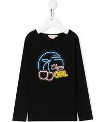 bonpoint 'cherry girl' sweatshirt - black