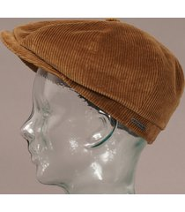 stetson corduroy hatteras cap brown 6841107-7