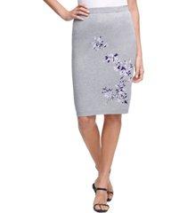calvin klein floral-print sweater skirt
