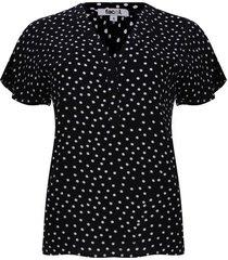 blusa con pechera corta color negro, talla 6