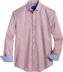 egara men's orange micro arrow modern fit sport shirt - size: xxl