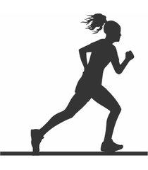escultura de mesa adorno corredora maratonista preto único