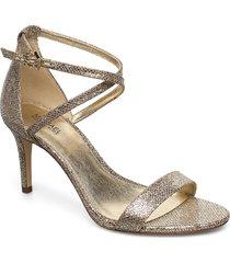 ava mid sandal sandal med klack guld michael kors shoes