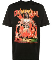 domrebel destroyed crystal wrestler t-shirt - black