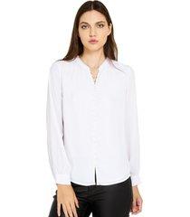 blusa botones forrados blanco nicopoly