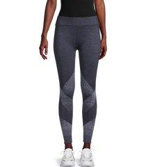 splendid women's geometric leggings - peacoat - size m