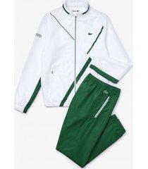 lacoste trainingspak men wh2045 sport dissimilar tennis white / green-
