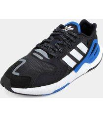 tenis lifestyle negro-azul-blanco adidas originals day jogger