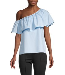 a.l.c. women's este one-shoulder top - sky - size 10