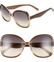 rebecca minkoff lark2 58mm butterfly sunglasses in lime peach/brown ochre at nordstrom
