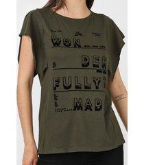 camiseta dimy lettering flocado verde