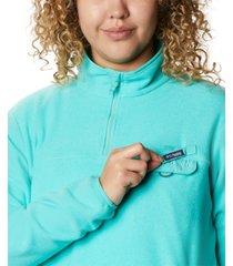 columbia plus size pfg harborside ii fleece pullover