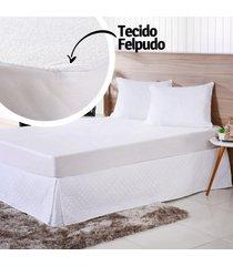 capa protetora de travesseiro beb㪠50cm x 70cm impermeã¡vel branco - bene casa - unico - dafiti