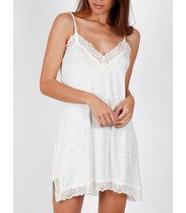 pyjama's / nachthemden admas babydoll lace night grijze adma's