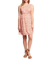 women's maternal america textured maternity dress, size large - coral