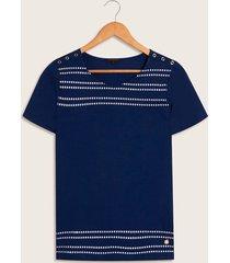 camiseta unicolor azul s