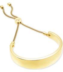 alfani gold-tone wide curved bar slider bracelet, created for macy's