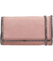 stella mccartney falabella shoulder bag in rose-pink faux leather