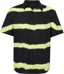 camisa john john lemon algodão preto masculina (preto, gg)