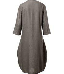 jurk met 3/4-mouwen van anna aura beige
