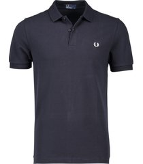 fred perry donkerblauw poloshirt met logo