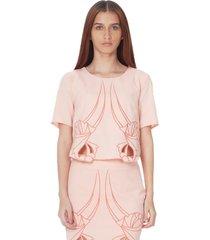 blusa manga corta de mujer aishop aw172-h70179c rosa