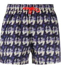 paul smith tie-dye swimming trunks - purple