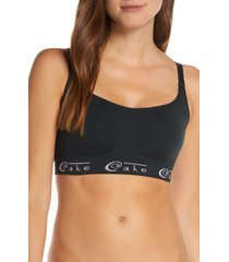 women's cake cotton candy seamless nursing bra, size small - black