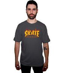 camiseta manga curta skate eterno elite logo grafite - kanui