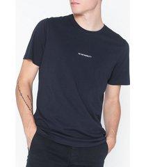 nn.07 ethan print tee 3208 t-shirts & linnen navy blue