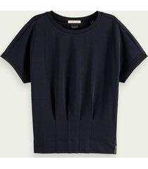 scotch & soda getailleerd t-shirt met korte mouwen van 100% katoen