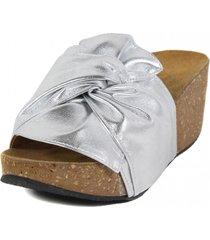 sandalia cuero brillo nudo platanara