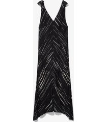 proenza schouler white label brushstroke printed sleeveless knot dress black/ecru brushstroke 8