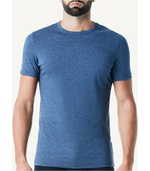 camiseta de manga curta gola de algodao supima® intimissimi algodão supima azul