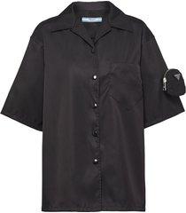 prada logo-pouch shirt - black