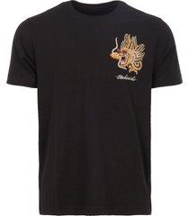 maharishi black golden dragon t-shirt msl8548