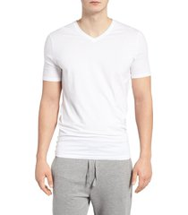 tommy john cool cotton high v-neck undershirt, size medium in white at nordstrom
