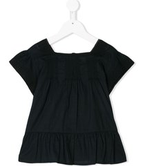 emile et ida peplum tunic top - black