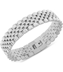 men's micro link chain bracelet in stainless steel