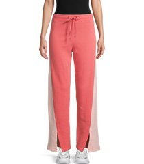 splendid women's two-tone wide-leg pants - pink - size xs