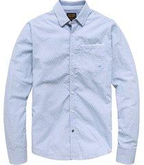 pme legend lichtblauw overhemd lange mouw