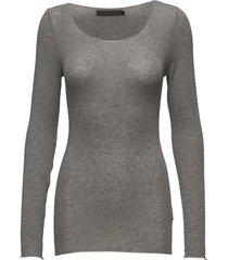 claudia top t-shirts & tops long-sleeved grijs minus
