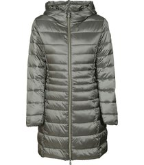 save the duck hooded mid-length padded parka