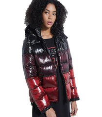 chaqueta ls gina ombre puffer negro guess