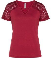 maglia con pizzo (rosso) - bodyflirt boutique