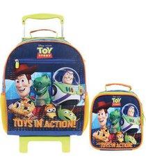 mochila com rodinhas toy story com lancheira masculina