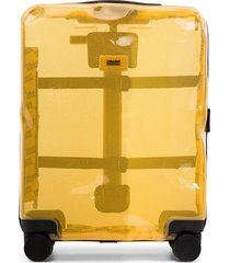 crash baggage small icon cabin suitcase - yellow